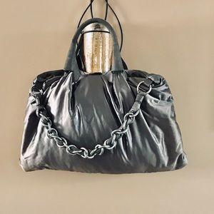 Large grey Fay Shoulder Bag beautiful chain strap